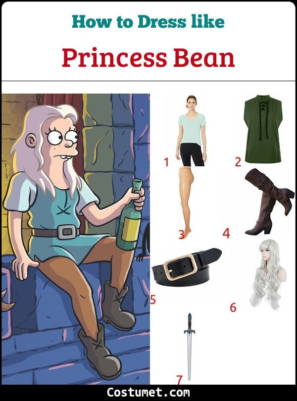 Princess Bean And Elfo Costume for Cosplay & Halloween