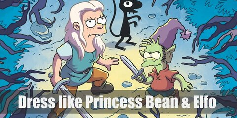 Princess Bean & Elfo (Disenchantment) Costume