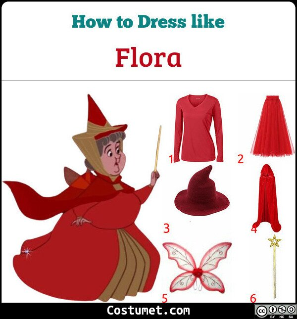 Flora Costume for Cosplay & Halloween