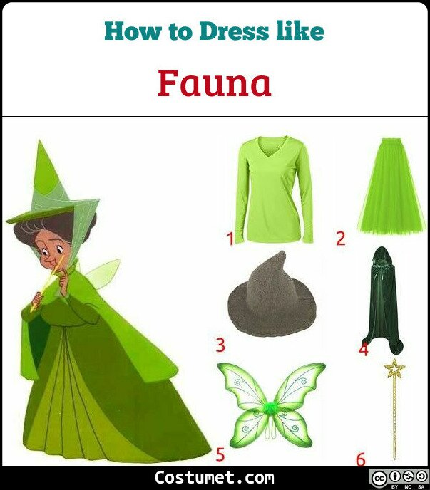 Fauna Costume for Cosplay & Halloween