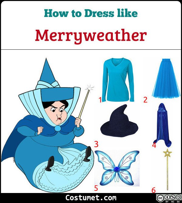 Merryweather Costume for Cosplay & Halloween