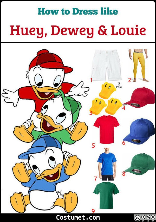 Huey, Dewey & Louie Costume for Cosplay & Halloween