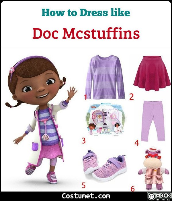 Doc Mcstuffins Costume for Cosplay & Halloween