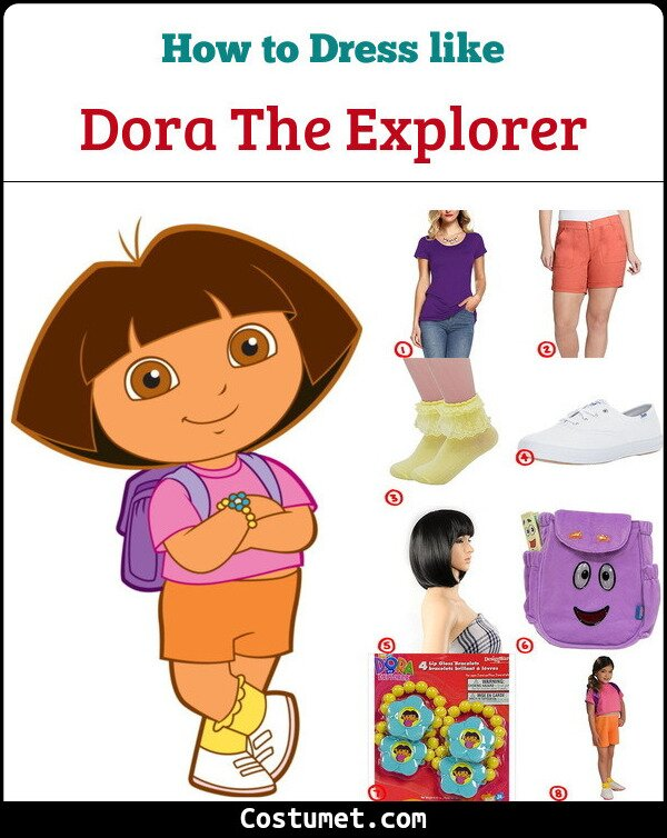 Dora The Explorer Costume for Cosplay & Halloween