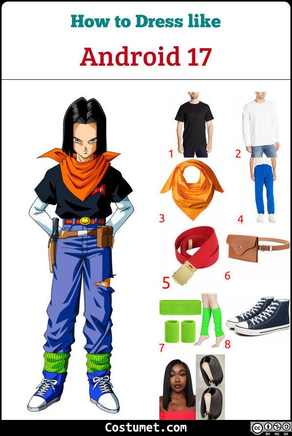 Android 17 Costume for Cosplay & Halloween