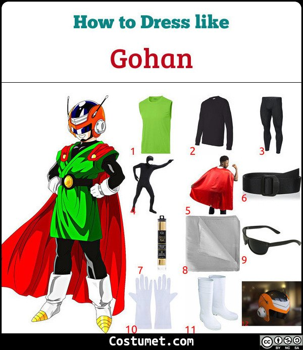 Gohan Costume for Cosplay & Halloween