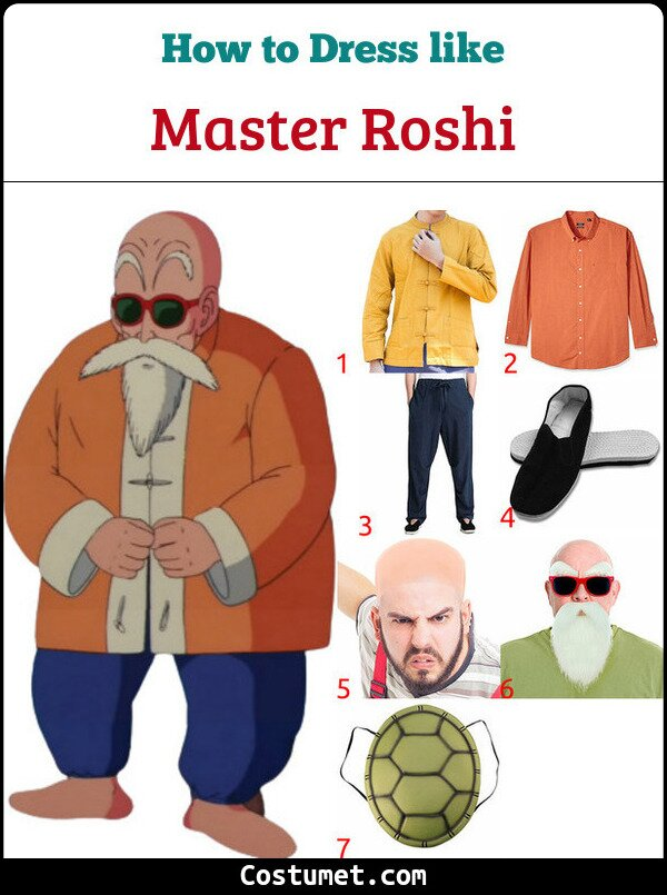 Master Roshi Costume for Cosplay & Halloween
