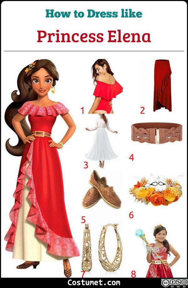 Elena Of Avalor Costume for Cosplay & Halloween