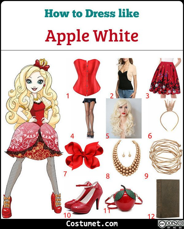 Apple White Costume for Cosplay & Halloween