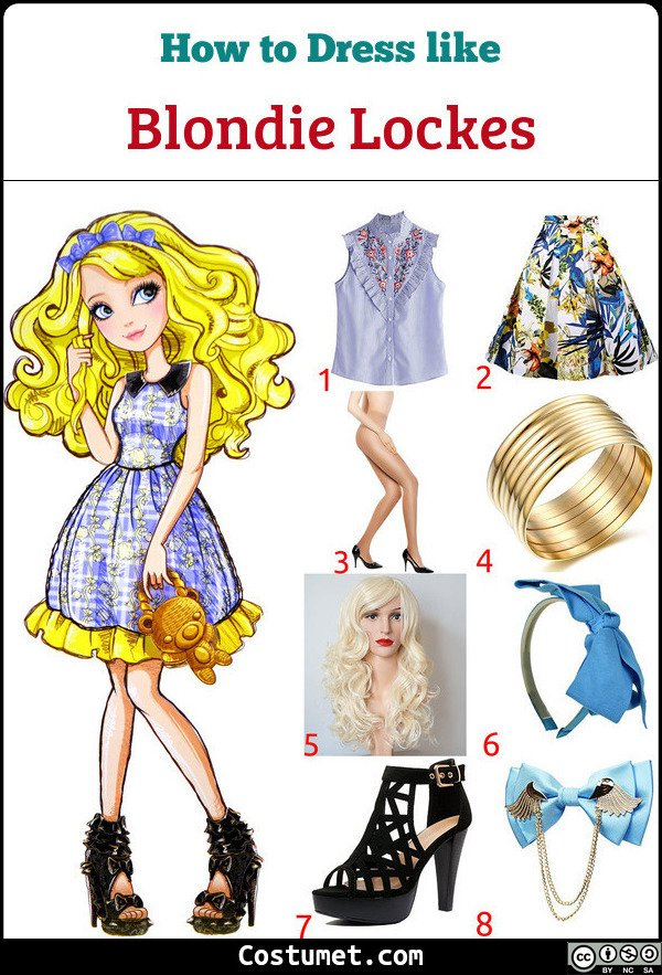 Blondie Lockes Costume for Cosplay & Halloween