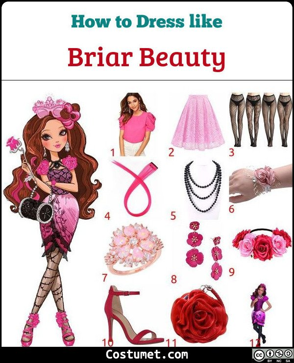 Briar Beauty Costume for Cosplay & Halloween