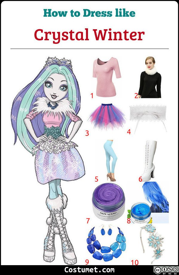 Crystal Winter Costume for Cosplay & Halloween