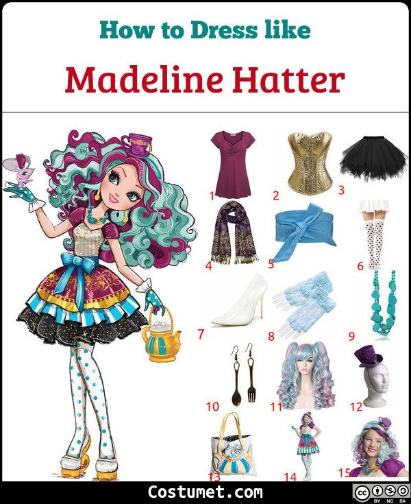 Madeline Hatter Costume for Cosplay & Halloween