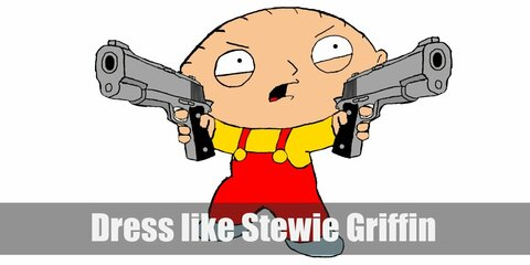 For a Stewie Griffin costume, the attitude is important, but the costume is definitely a big part.