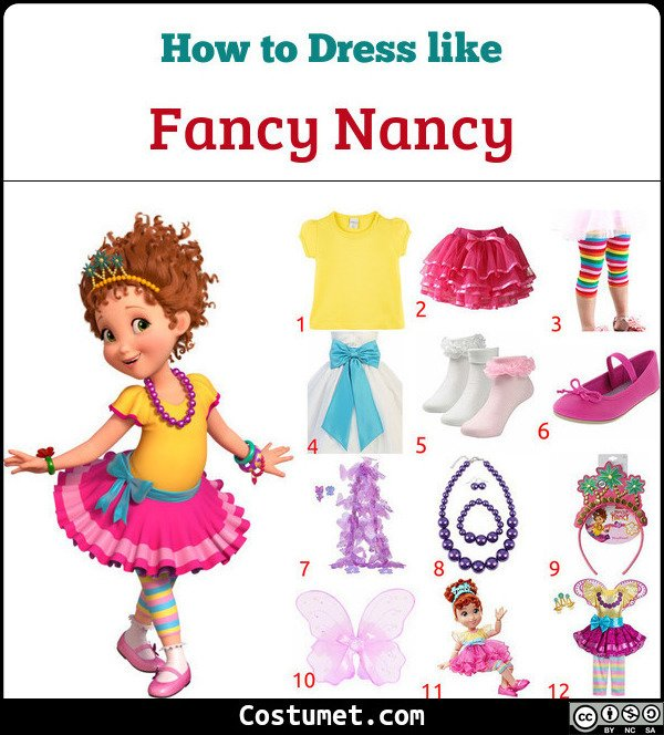 Fancy Nancy Clancy Costume For Cosplay Halloween