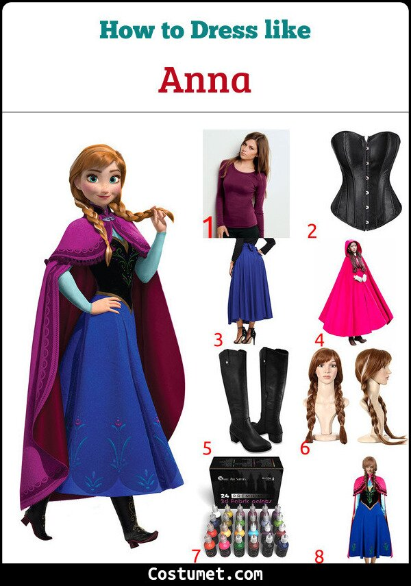 Anna Costume for Cosplay & Halloween