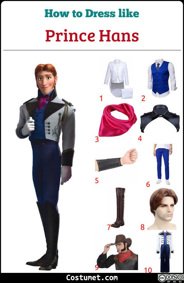 Prince Hans Costume for Cosplay & Halloween