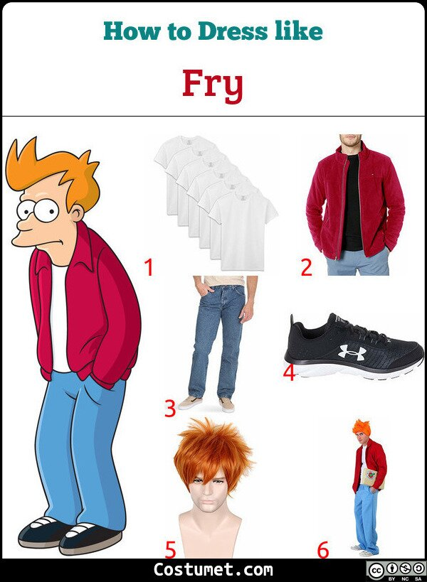 Fry Costume for Cosplay & Halloween