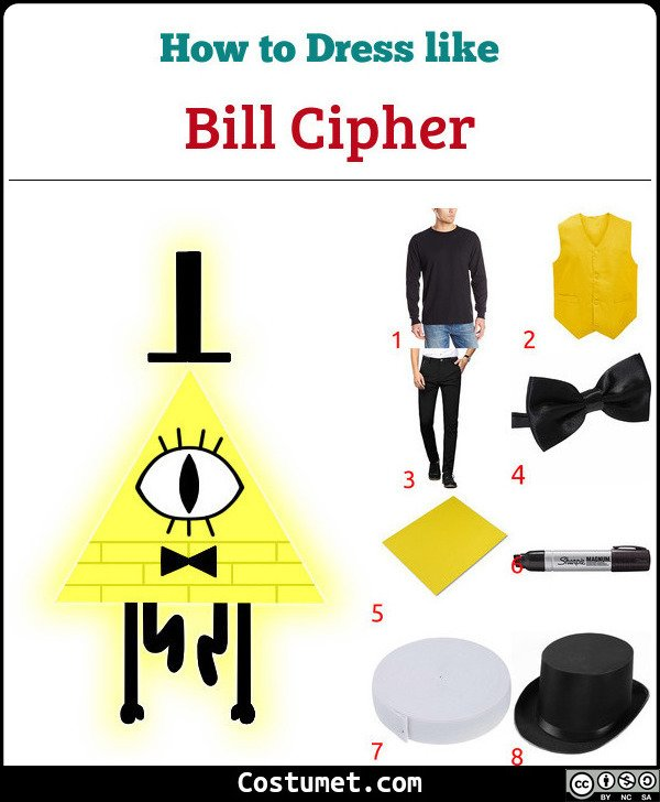 Bill Cipher Costume for Cosplay & Halloween