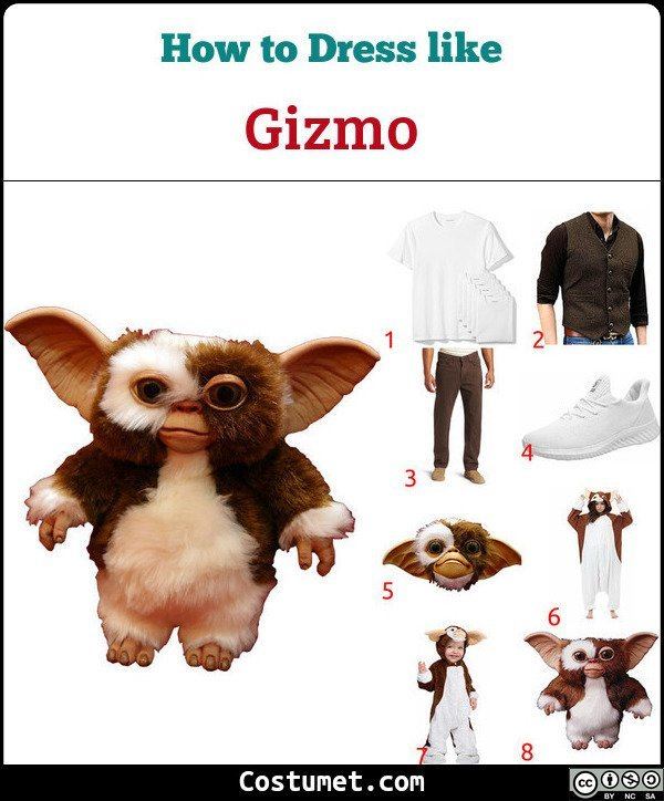 Gizmo Gremlins Costume for Cosplay & Halloween