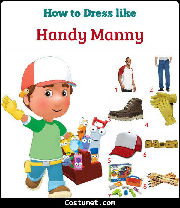 Handy Manny Costume for Cosplay & Halloween