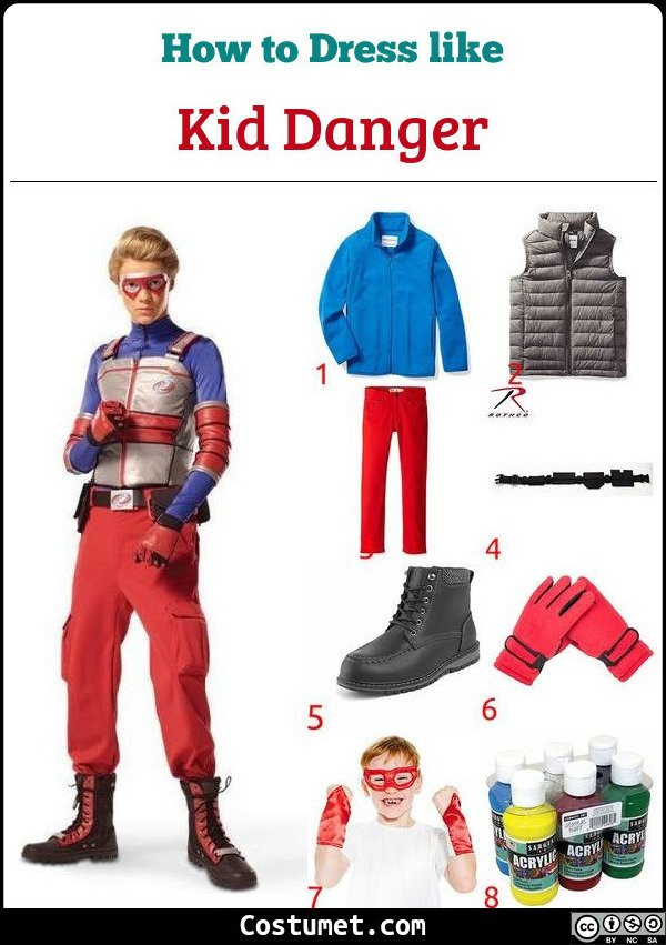 Kid Danger Costume for Cosplay & Halloween