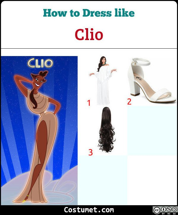 Clio (Muses from Hercules) Costume for Cosplay & Halloween