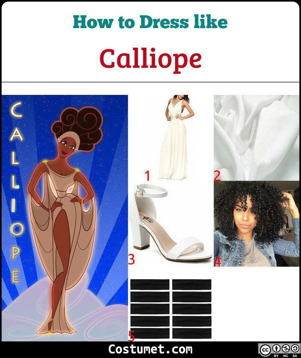 Calliope (Muses from Hercules) Costume for Cosplay & Halloween