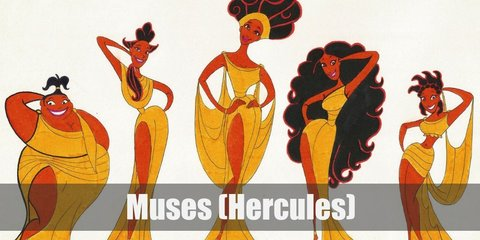 If you're looking for a simple yet regal group costume for you and your friends, go Grecian with the muses from Hercules. The Muses' costumes consist of a white Grecian dress, white heels, and brunette hair.