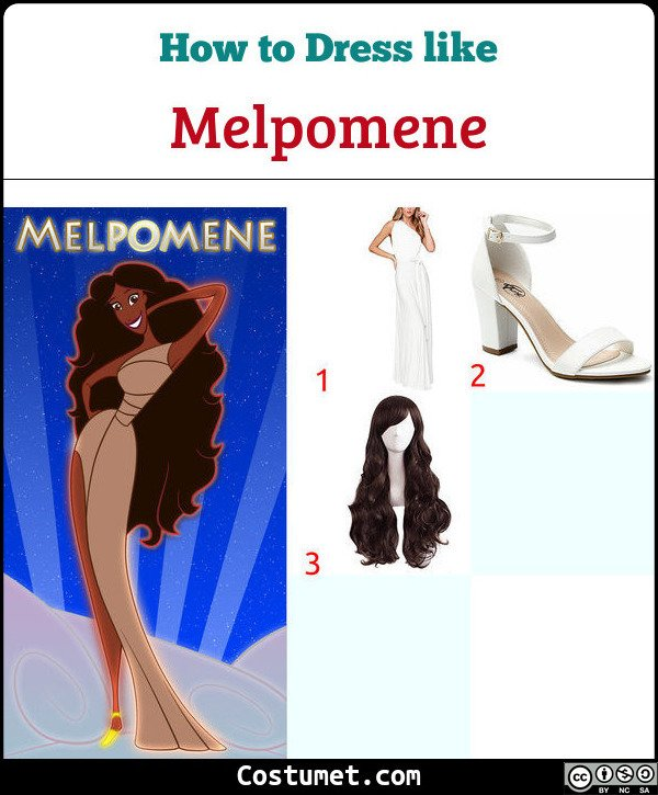 Melpomene (Muses from Hercules) Costume for Cosplay & Halloween