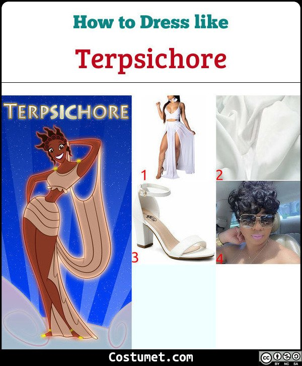Terpsichore (Muses from Hercules) Costume for Cosplay & Halloween