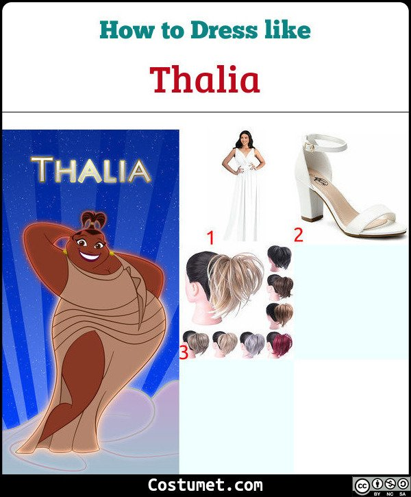 Thalia (Muses from Hercules) Costume for Cosplay & Halloween