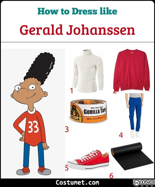Gerald from Hey Arnold Costume for Cosplay & Halloween