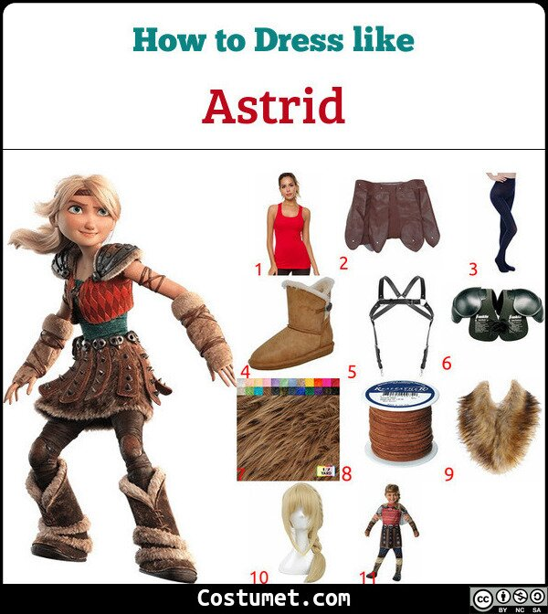 Astrid Costume for Cosplay & Halloween