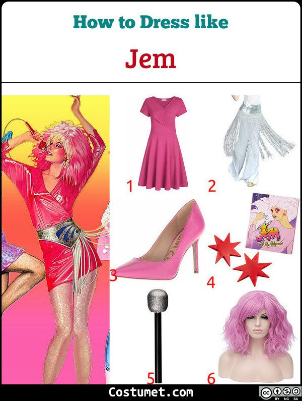 Jem And The Holograms Costume for Cosplay & Halloween