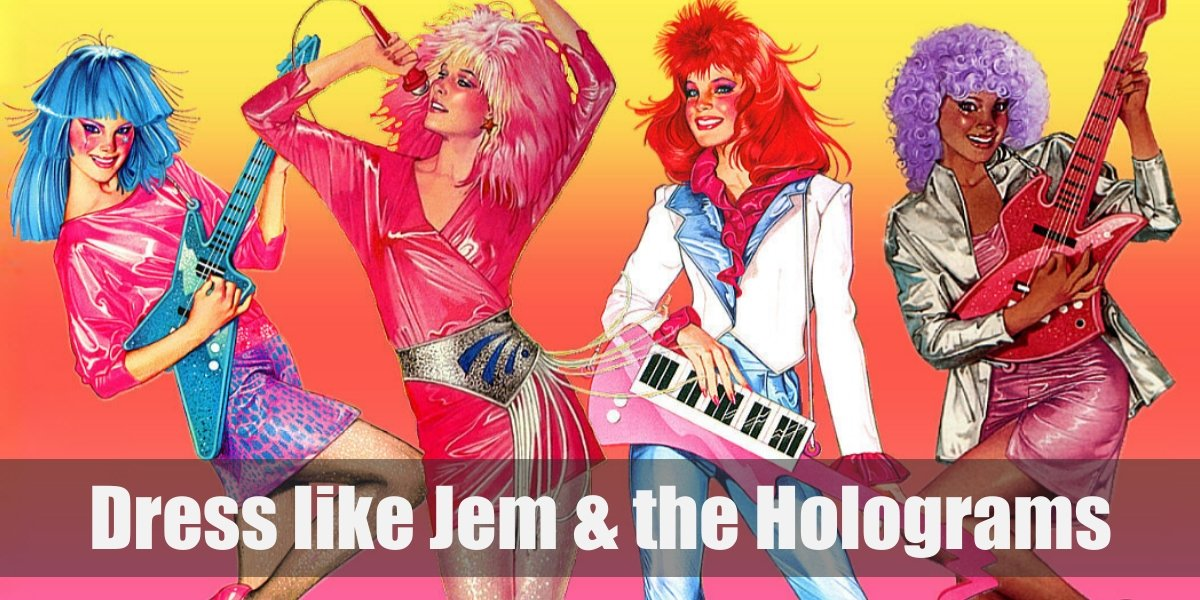 Jem And The Holograms Costume For Cosplay Halloween