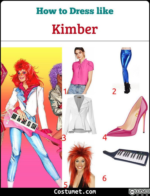 Kimber Jem And The Holograms Costume for Cosplay & Halloween