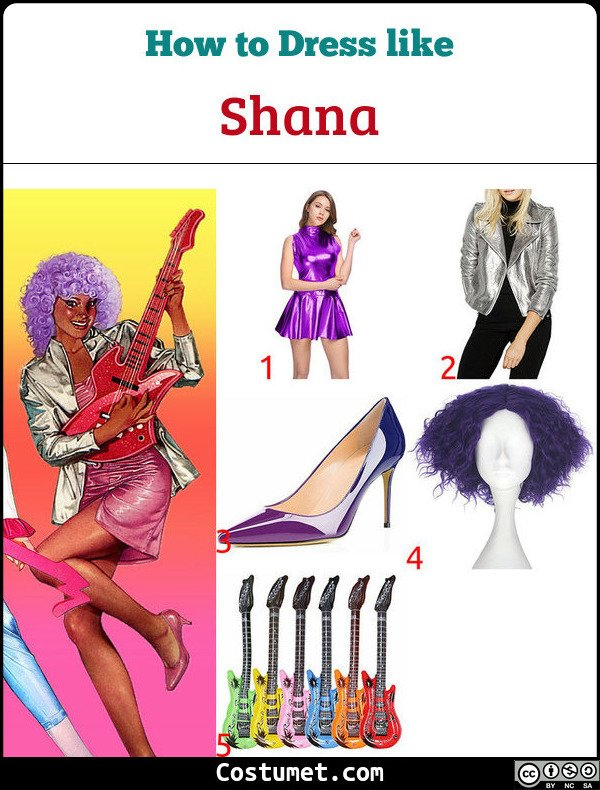 Shana Jem And The Holograms Costume for Cosplay & Halloween