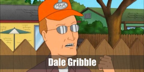 Dale Gribble's costume can be recreated by wearing a whtie shirt under a brown button-down shirt. Wear navy blue pants and brown shoes, too. Top the look with silver glasses and an orange cap!