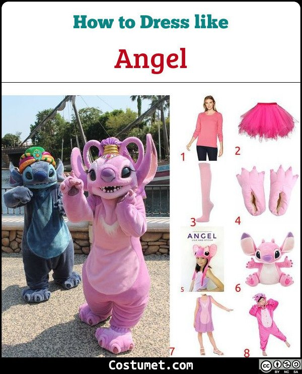 Angel (Lilo And Stitch) Costume for Cosplay & Halloween