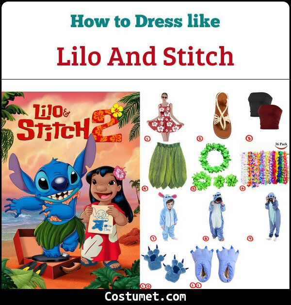 Lilo And Stitch Costume for Cosplay & Halloween
