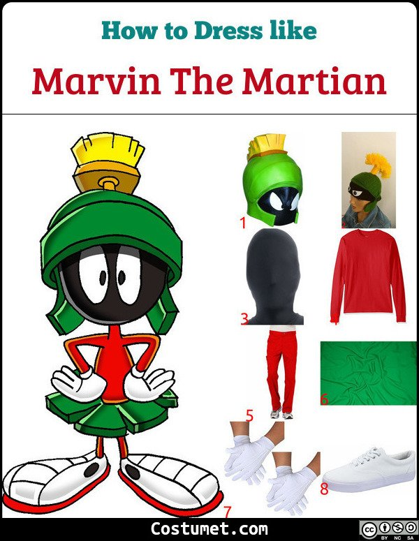 Marvin The Martian Costume for Cosplay & Halloween