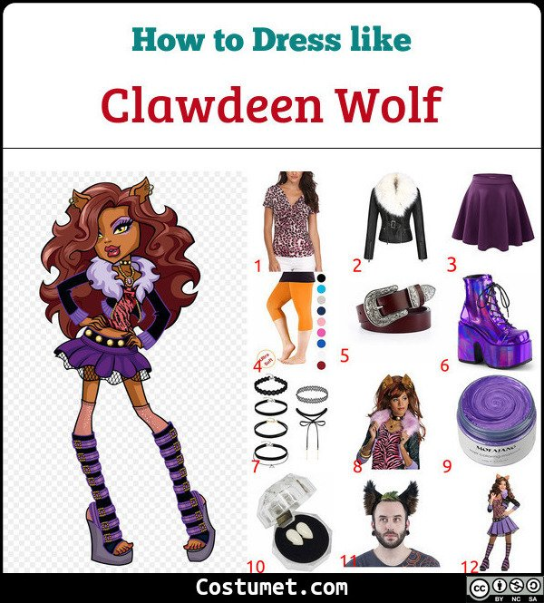 Clawdeen Wolf Costume for Cosplay & Halloween