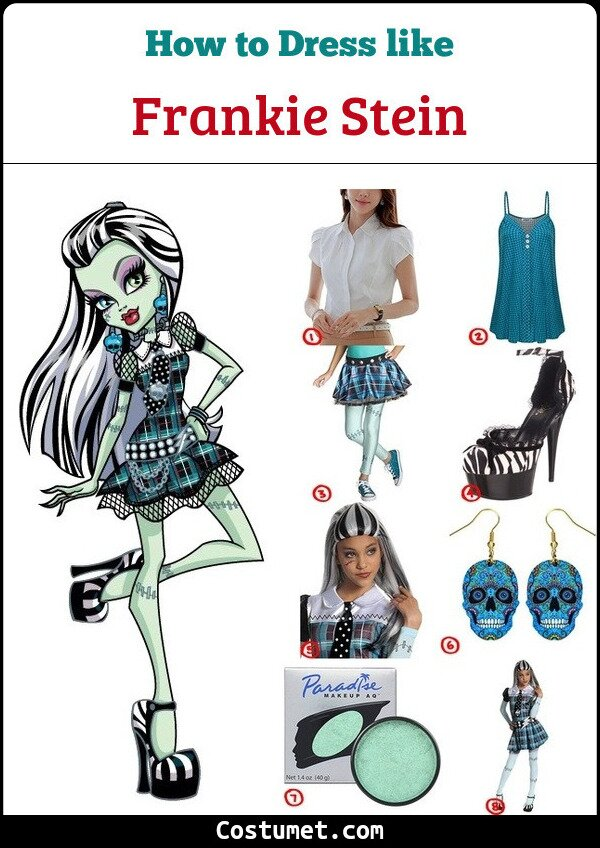 Frankie Stein Costume for Cosplay & Halloween