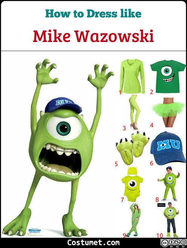 Mike Wazowski Costume for Cosplay & Halloween