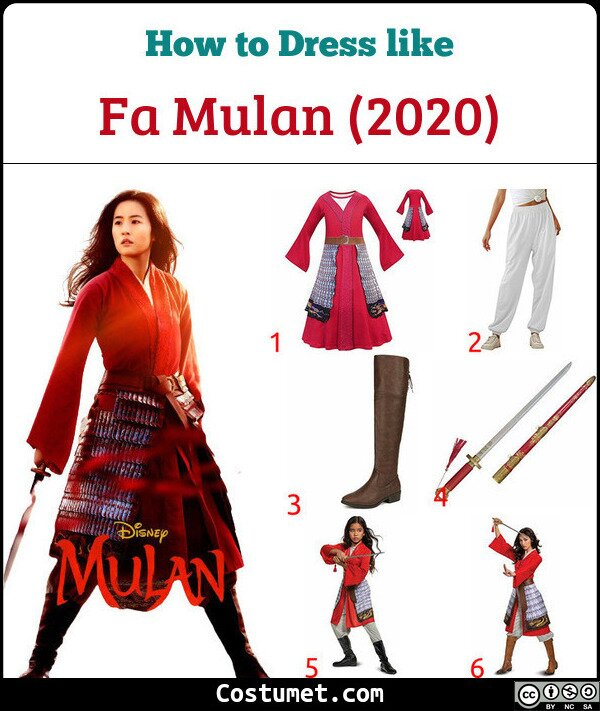 Fa Mulan (2020) Costume for Cosplay & Halloween