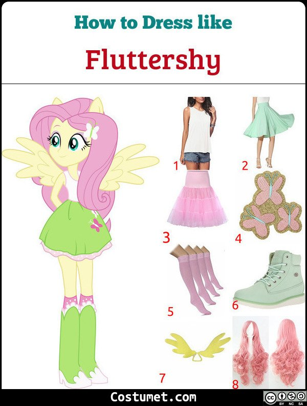 Fluttershy Costume for Cosplay & Halloween