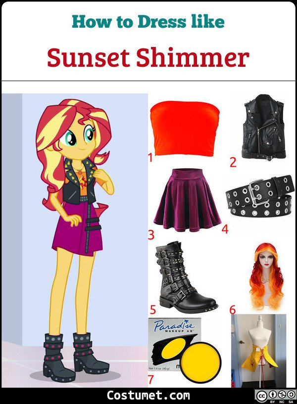 Sunset Shimmer Costume for Cosplay & Halloween
