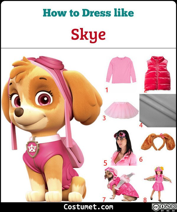 Skye Costume for Cosplay & Halloween