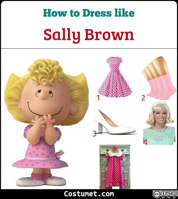 Sally Brown Costume for Cosplay & Halloween